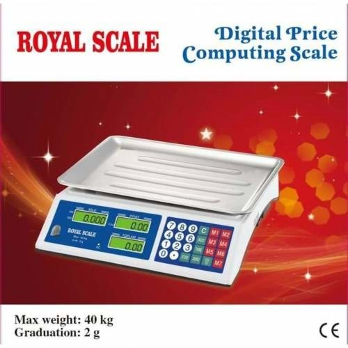 ROYAL SCALE ŞARJLI ELEKTRONİK TERAZİ 40 KG - 2 GR